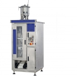 Plastic pouch filling machine